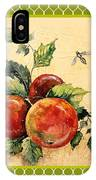 Rustic Apples On Moroccan IPhone Case