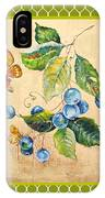 Rustic Blueberries On Moroccan IPhone Case