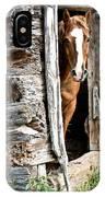 Rustic Horse Scene IPhone Case