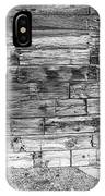Rustic Old Colorado Barn Door And Window Bw IPhone Case