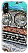 Rusty 1959 Ford Station Wagon - Front Detail IPhone Case