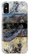 Rusty Dusty And Grimy Lock Plate IPhone Case