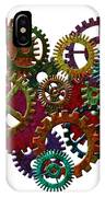 Rusty Metal Gears Forming Heart Shape Illustration IPhone Case