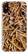 Rusty Nails Abstract Art IPhone Case