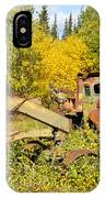 Rusty Truck And Grader Forgotten In Fall Forest IPhone Case