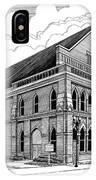 Ryman Auditorium In Nashville Tn IPhone X Case