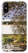 Ryot Covered Bridge And Stream IPhone Case