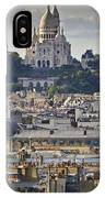 Sacre Coeur Over Rooftops IPhone Case