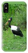 Saddle Billed Stork-136 IPhone Case
