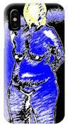 Safe Blue Woman IPhone Case