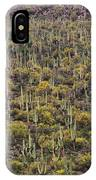 Saguaro Forest At The Foot Of Four Peaks IPhone Case