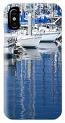 Sail Boats Docked In Marina IPhone Case