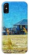 Sailboats Boat Harbor - Quiet Day At The Harbor IPhone Case