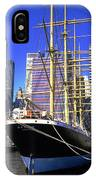 Sailing Boat Anchored In South Street Seaport 1984 IPhone Case