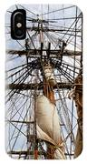 Sails Aboard The Hms Bounty IPhone Case