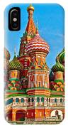 Saint Basil Cathedral In Red Square In Moscow- Russia IPhone Case