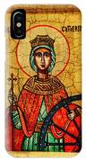 Saint Catherine Of Alexandria Icon IPhone Case