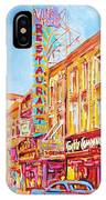 Saint Catherine Street Montreal IPhone Case