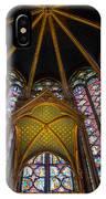 Saint Chapelle Windows IPhone Case