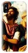 Saint Christopher With Saint Peter IPhone Case