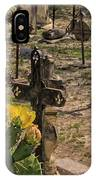 Saint Dominic Cemetery At Old D'hanis Texas IPhone Case