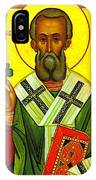Saint Patrick Enlightener Of Ireland IPhone Case by Bill Cannon