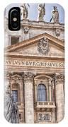 Saint Peters Basilica Rome IPhone Case