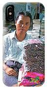 Salesman In The Marketplace In Tachilek-burma IPhone Case
