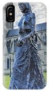 Salisbury Cathedral And The Walking Madonna 2 IPhone Case