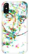 Salvador Dali Watercolor Portrait IPhone Case