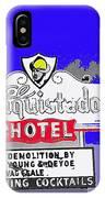 Salvage Sale Sign El Conquistador Hotel Tucson Arizona 1968-2011 IPhone Case