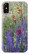 Salvia Sp. And Papaver Sp IPhone Case