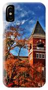Samford Hall In The Fall IPhone Case