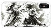 Samurai Sword Bushido Katana Martial Arts Budo Sumi-e Original Ink Painting Artwork IPhone X Case