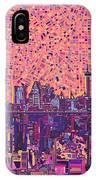 San Antonio Skyline Abstract 5 IPhone Case