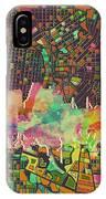 San Antonio Skyline Watercolor 5 IPhone Case