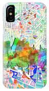 San Antonio Skyline Watercolor 6 IPhone Case