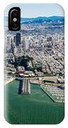 San Francisco Bay Piers Aloft IPhone Case