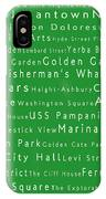 San Francisco In Words Green IPhone Case