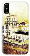 San Xavier Del Bac Mission As Seen From An Adjacent Hill C-1913-2013.  IPhone Case