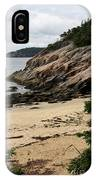 Sand Beach Acadia Park IPhone Case