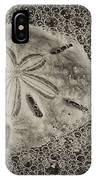 Sand Dollar 3 Black And White Botany Bay IPhone Case