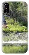 Sandhill Over The Pond IPhone Case