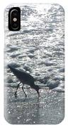 Sandpiper Finds Food In Surf IPhone Case