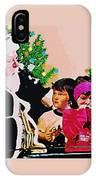 Santa And The Kids IPhone Case