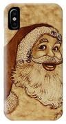 Santa Claus Joyful Face IPhone Case
