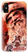 Santa Clause Vintage Poster A Joyful Christmas IPhone Case