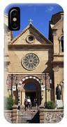 Santa Fe - Basilica Of St. Francis Of Assisi IPhone Case