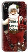 Santa Loves Coke IPhone Case