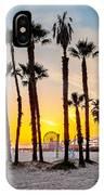 Santa Monica Palms IPhone Case